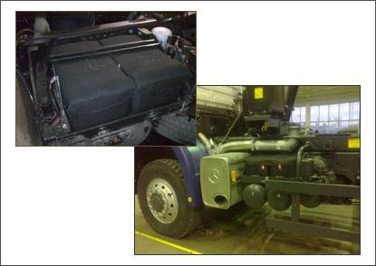 Термозащита для АКБ грузовых автомобилей ТЗГ-4В, размер 520*270*210.
